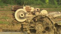 Simple Tractor Used In China Rice Field Early Industrialization Farming Oil Consumption