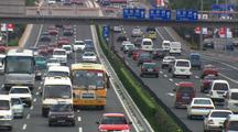 Beijing China Push In To Traffic On Highway And Growing Congestion Asia Oil Consumption Industrial Development