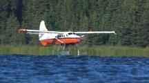 De Havilland Otter Taxiing On Floats On Alaska Lake  Floatplane Tourism Alaska