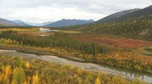 Aerial In Fall With Changing Colors Fall Colors Alaska Brooks Range Ragged  Mountains Gates Of The Arctic Alaska Dramatic Scenery