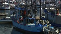 Boats In Coastal Fishing Harbor