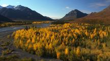 Fall Colors, Aerials Over Brooks Range, Boreal Forest, Arctic Rivers, Taiga
