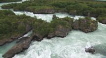 Flight Over White Water On The Seafoam Green Newhalen River, Alaska