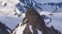 Aerial Of Mountain Peak In Southcenteral Alaska Shot With Cineflex