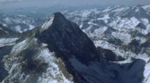 Aerial View Of Mountain Peaks, Colorado Rockies