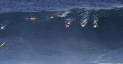 Jaws, Peahi - big wave surfing-collision wipeout