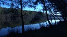Mainly Spotted Gum Forest Surrounds This Shallow Lake