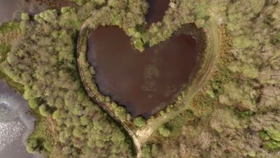 Lifting on heart-shaped lake