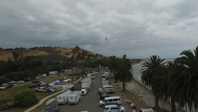 OIL SPILL SANTA BARBARA 2015-CLEANUP HQ HELICOPTER OIL