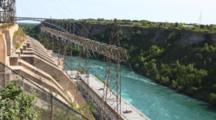 Power Lines From Water Generating Station At Niagara River, Canada