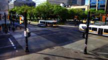 4k Ultrahd A Timelapse On A Busy City Street