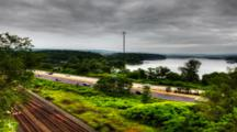 4k Ultrahd A Timelapse View Of A Busy Highway Commute