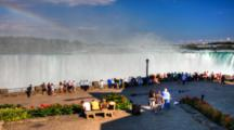 4k Ultrahd A Crowd Of Tourists At Niagara Falls