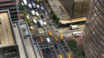 4k Ultrahd A Busy Intersection In Manhattan
