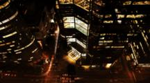 4k Ultrahd Night View Of Traffic Among New York Skyscrapers