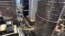 4k Ultrahd Overlook View Of Traffic In New York City
