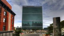 4k Ultrahd A Timelapse View Of The United Nations Building In New York