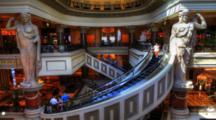 4k Ultrahd Timelapse Of The Lobby Of Caesar's Forum Mall, Las Vegas, Nevada