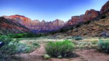4k Ultrahd Sunrise Timelapse, Zion, Utah