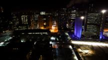 4k Ultrahd A Timelapse Night View Of Toronto City Hall, Canada