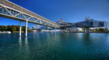 4k Ultrahd A View Of Ontario Place In Toronto, Canada