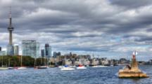 4k Ultrahd A Timelapse View Of Toronto Harbor And Skyline