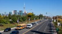 4k Ultrahd A Timelapse View Of Toronto Traffic