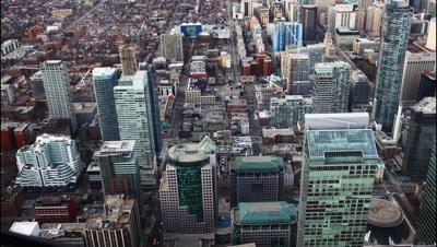 4K UltraHD A timelapse aerial view of Toronto buildings