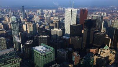 4K UltraHD A timelapse aerial view into Toronto's city center