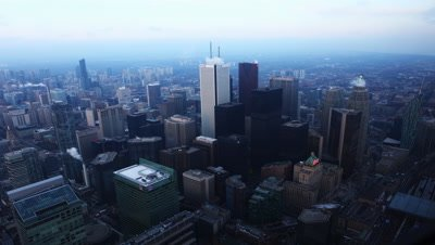 4K UltraHD From day to night in the Toronto city center
