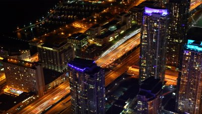 4K UltraHD A timelapse view of Toronto as night falls