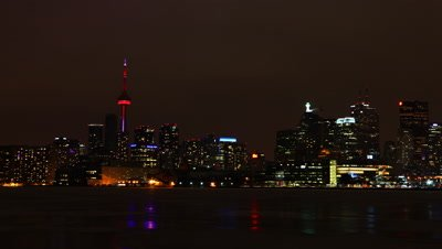 4K UltraHD A timelapse view of the city of Toronto at night