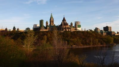 4K UltraHD A timelapse view of Canada's Parliament on a hill