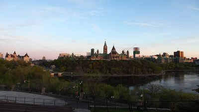 4K UltraHD A timelapse day to night view of Canada's Parliament