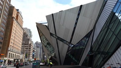 The front of the Royal Ontario Museum Toronto