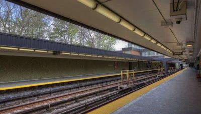 4k Timelapse Rosedale Station Toronto