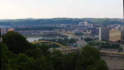 4K UltraHD Motion controlled timelapse Pittsburgh, Pennsylvania