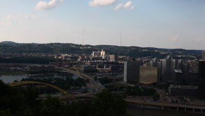 4K UltraHD Motion controlled timelapse Pittsburgh city center