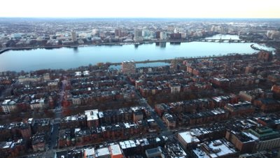 4K UltraHD A timelapse view of a Boston neighborhood