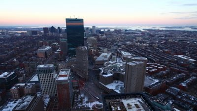 4K UltraHD A timelapse view of Boston at dusk
