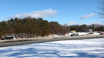 4K UltraHD A timelapse view of the Masspike, Massachusetts Turnpike, I-90