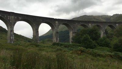 4K UltraHD The Glenfinnan Viaduct in the Highlands of Scotland