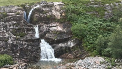 4K UltraHD Waterfall in the Glencoe area of the highlands of Scotland