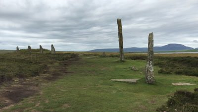 4K UltraHD View of the Ring of Brodgar in Orkney, Scotland