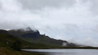 4K UltraHD Timelapse of the Old Man of Storr, Skye in Scotland