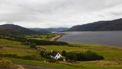 4K UltraHD Timelapse view of Ullapool in Scotland