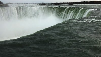 4K UltraHD Horseshoe Falls at the brink