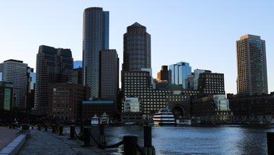 4K UltraHD View of the Boston city center