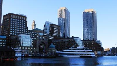 4K UltraHD View of the Boston skyline