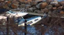 Hi Angle, Sunken Boat In Marina, DragøR, Denmark